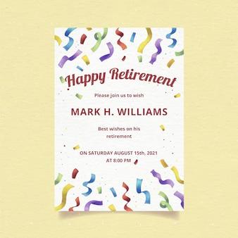 Ręcznie malowane akwarelą kartkę z życzeniami emerytury
