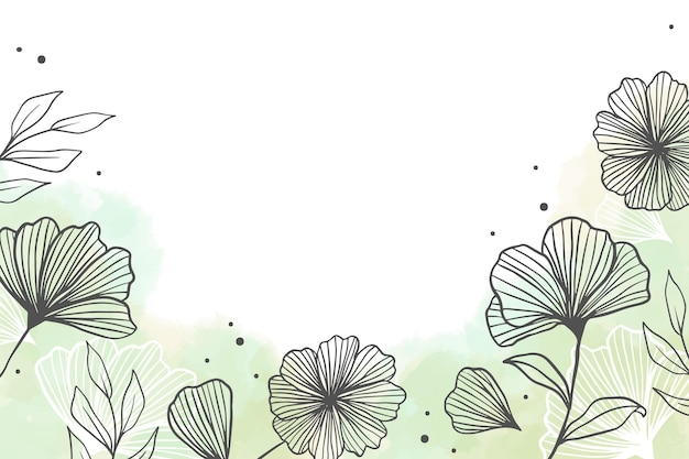 Ręcznie malowane akwarela kwiatowy tło