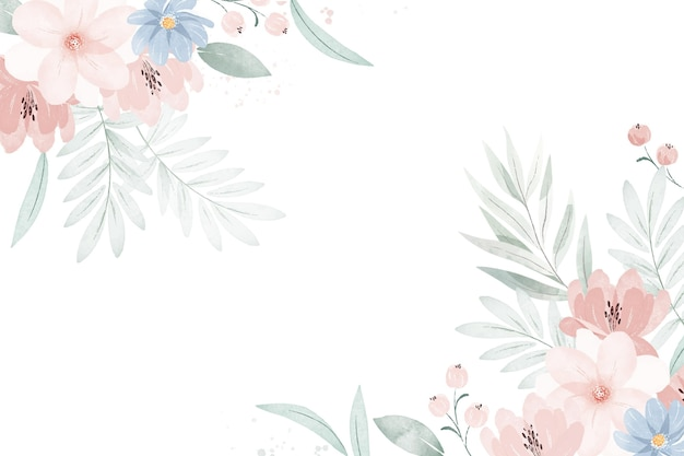 Ręcznie Malowane Akwarela Kwiatowy Tło Darmowych Wektorów