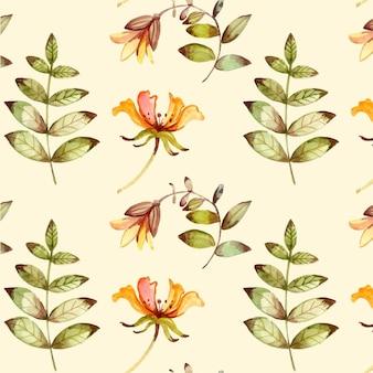 Ręcznie malowane akwarelą kwiaty tłoczone wzór