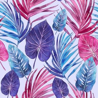 Ręcznie malowane akwarela lato wzór