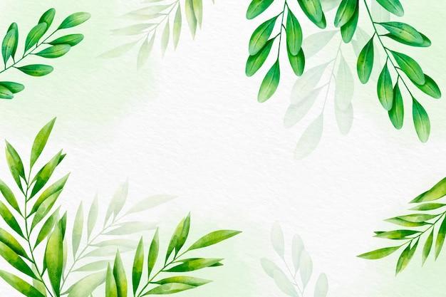 Ręcznie malowane akwarela natura tło z pustej przestrzeni