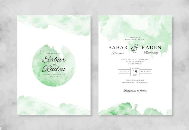 Ręcznie malowane akwarela rozchlapać szablon zaproszenia ślubne