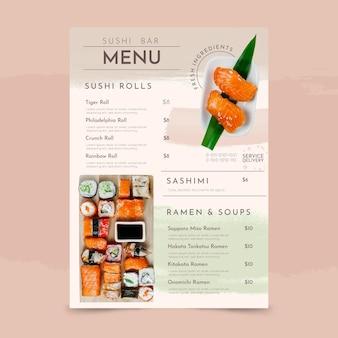 Ręcznie malowane akwarela rustykalny szablon menu restauracji ze zdjęciem
