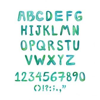Ręcznie malowane akwarela typografii