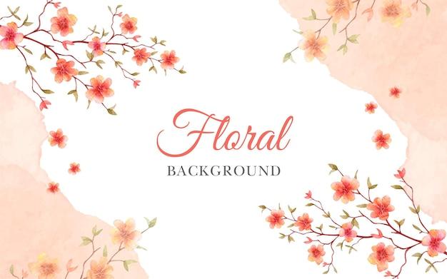 Ręcznie malowane akwarela wiosenny kwiat
