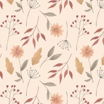 Ręcznie malowane akwarele kwiaty tłoczone wzór