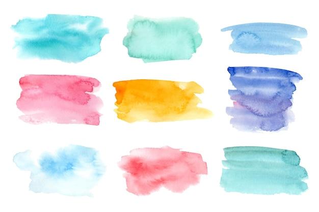 Ręcznie malowane akwarelowe plamy