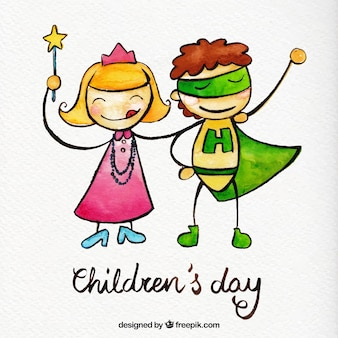 Ręcznie malowane dzieci na dzień dziecka