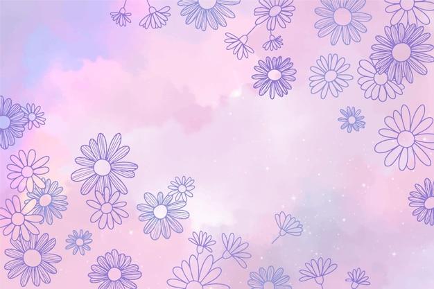 Ręcznie malowane kwiatowy tło