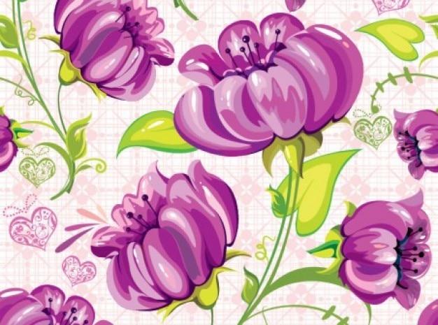 Ręcznie malowane kwiaty wzór tła