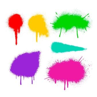 Ręcznie malowane linie natryskowe i kolekcja kroplówek