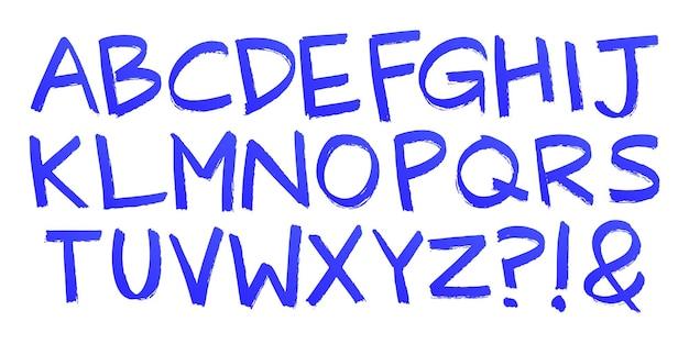 Ręcznie malowane litery