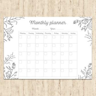 Ręcznie malowane miesięczna planowanie