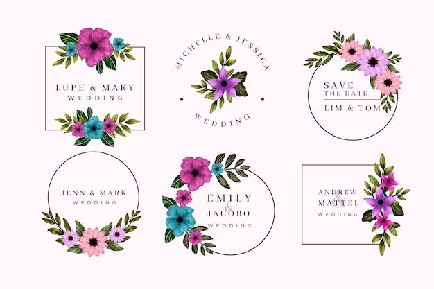 Ręcznie malowane monogramy ślubne