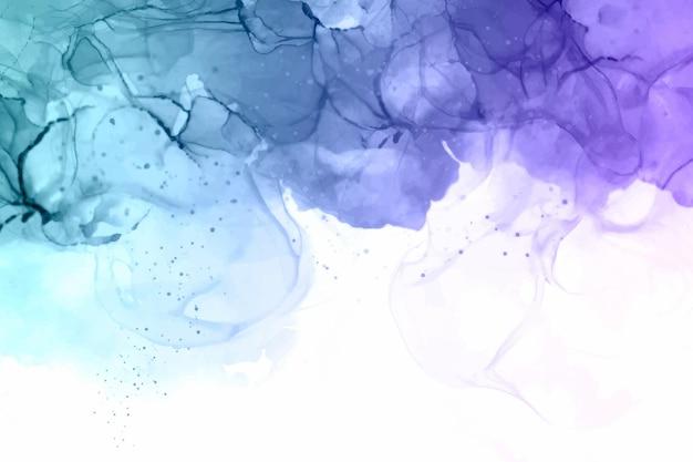 Ręcznie malowane niebieskie i fioletowe tło