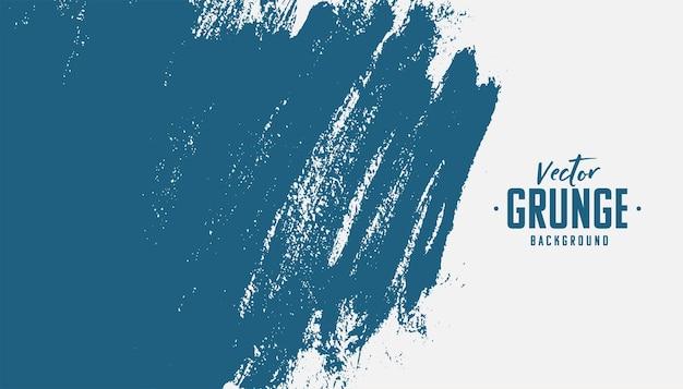 Ręcznie malowane niebieskie tło tekstury grunge