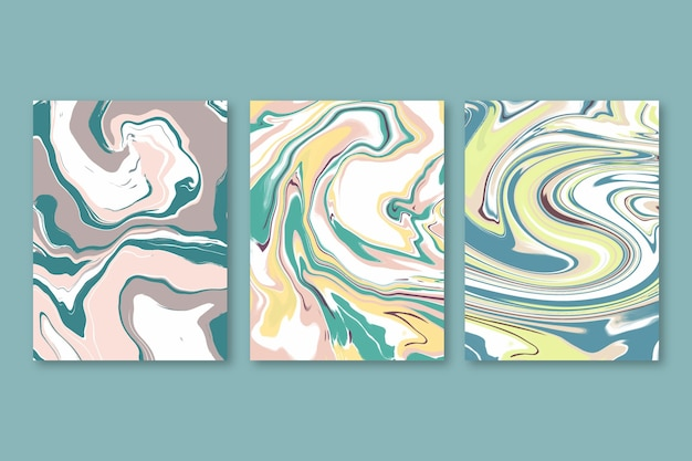 Ręcznie malowane opakowanie z płynnego marmuru cover