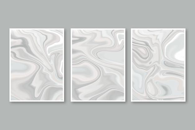 Ręcznie Malowane Opakowanie Z Płynnego Marmuru Darmowych Wektorów