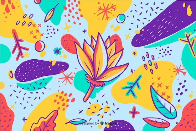 Ręcznie malowane streszczenie tło kwiatowy
