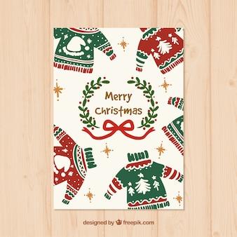 Ręcznie malowane świąteczne swetry karty