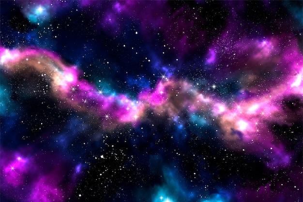 Ręcznie Malowane Tła Galaktyki Akwarela Darmowych Wektorów