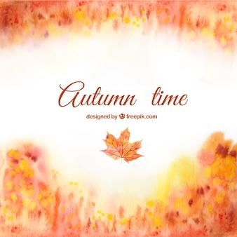 Ręcznie malowane tła jesień czas