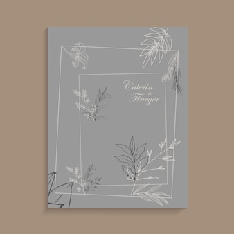 Ręcznie malowane tło kwiatowy linii