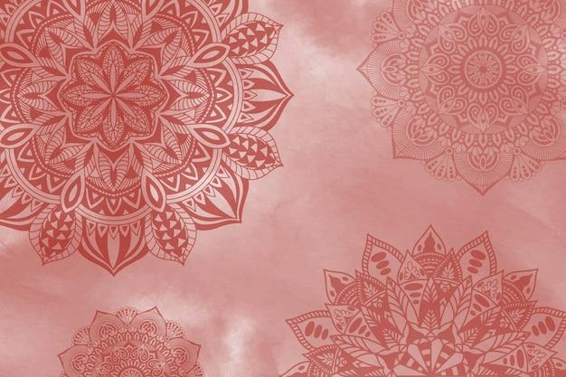 Ręcznie malowane tło mandali w stylu