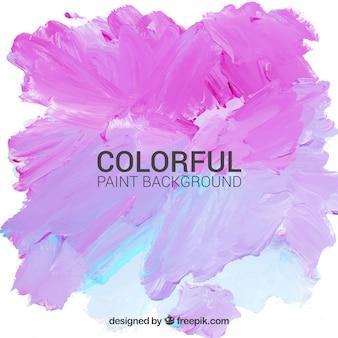 Ręcznie malowane tło w kolorze różowym i niebieskim kolorze