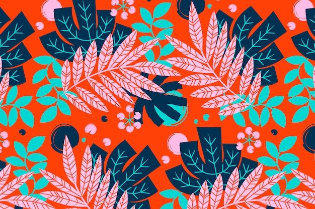 Ręcznie malowany abstrakcyjny wzór liści