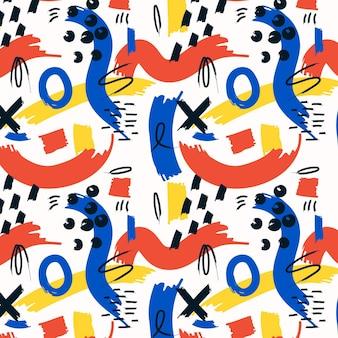 Ręcznie malowany abstrakcyjny wzór malarski