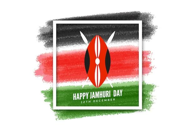 Ręcznie malowany dzień jamhuri