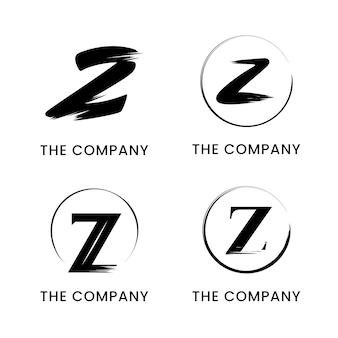 Ręcznie malowany pakiet logo litery z.