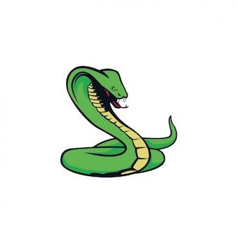 Ręcznie malowany wzór cobra