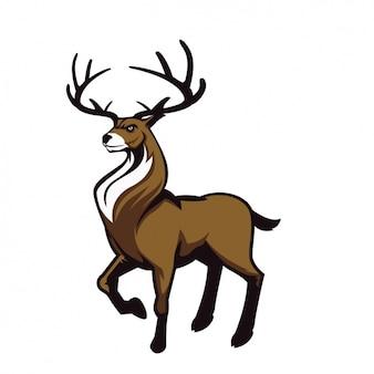 Ręcznie malowany wzór jelenia