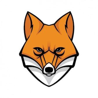 Ręcznie malowany wzór lisa