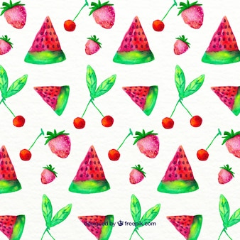 Ręcznie malowany wzór owoce