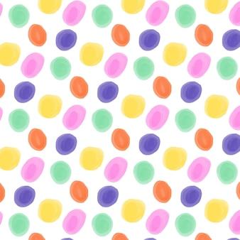 Ręcznie malowany wzór w kropki