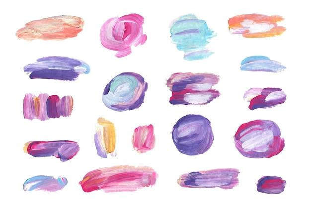 Ręcznie malowany zestaw pędzli akrylowych