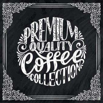 Ręcznie napis skład kompozycji z szkic do kawiarni lub kawiarni.