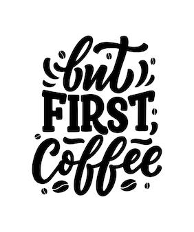 Ręcznie napis skład kompozycji z szkic do kawiarni lub kawiarni