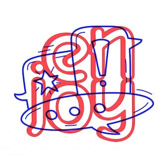 Ręcznie narysować ikonę bańki czat w stylu doodle z napisem.