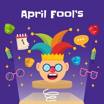 Ręcznie narysować ilustrację prima aprilis.