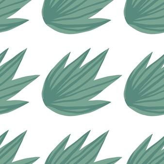 Ręcznie narysować prosty tropikalny zielony wzór liści. egzotyczna roślina. letni projekt tkaniny, nadruku tekstylnego, papieru do pakowania, tekstyliów dziecięcych