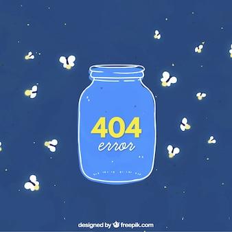 Ręcznie narysowany błąd 404