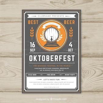 Ręcznie narysowany plakat oktoberfest z rocznika stylu