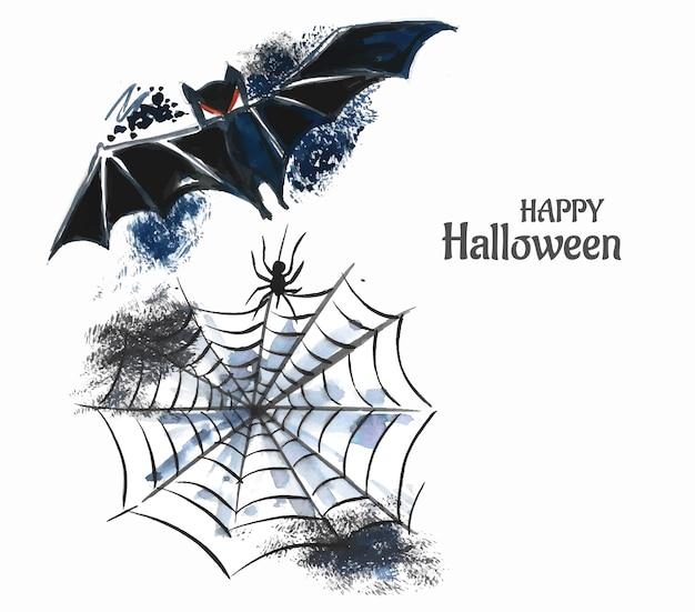 Ręcznie narysuj projekt karty halloween