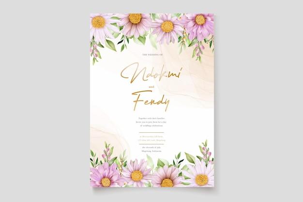 Ręcznie narysuj zestaw kartek z zaproszeniem do akwareli