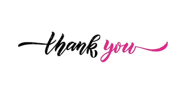 Ręcznie naszkicowane dziękuję napis typografia odręczny inspirujący cytat dziękuję ręcznie rysować